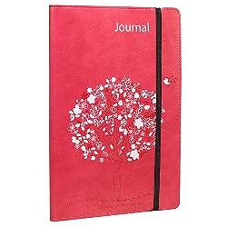 Journal - Lux-Leather - Pink Tree