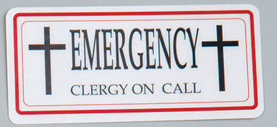 Picture of Koleys K3301 Clergy Emergency Sign