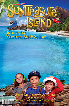 Gospel Light VBS 2014 SonTreasure Island Publicity Poster Small 11.5x15.5