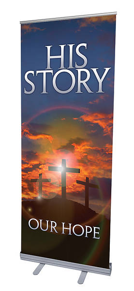 His Story Our Hope Lent RollUp Banner with Stand