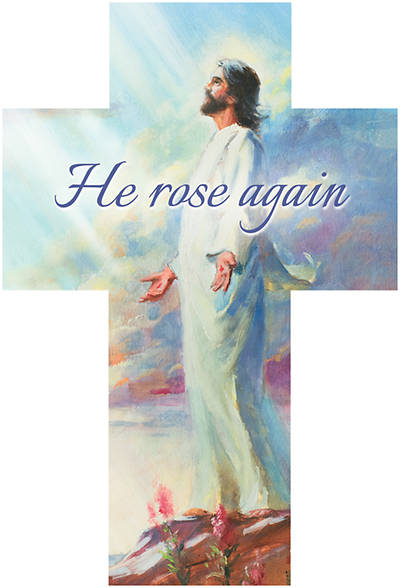 He Rose Again Cross Bible Marker