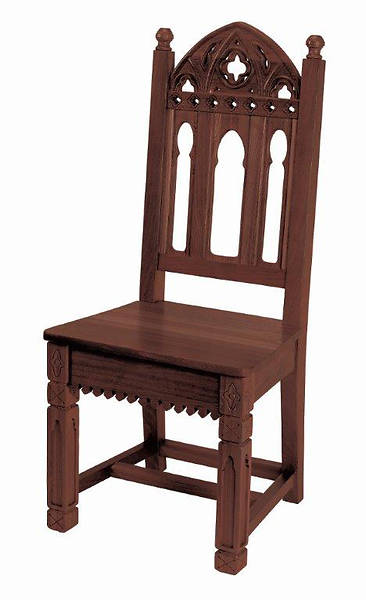 Picture of Gothic Collection Side Chair - Walnut Stain