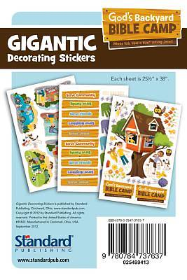 Standard Vacation Bible School 2013 Gods Backyard Bible Camp Gigantic Decorating Stickers