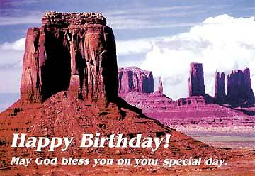 Picture of Happy Birthday/Monument Valley Postcard (Package of 25)