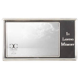 Picture of In Loving Memory Silver Tone Zinc Alloy Metal Wall and Tabletop Frame