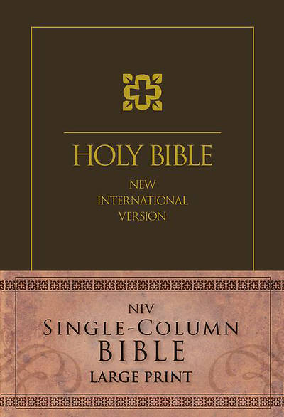 NIV Single-Column Bible Large Print