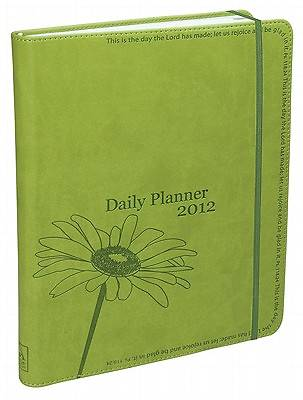 2012 Daily Planner for Women Green Large