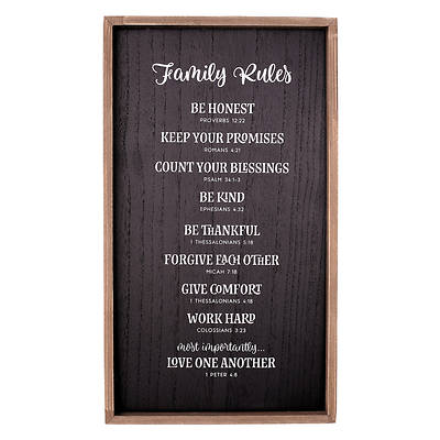 Wall Plaque Family Rules