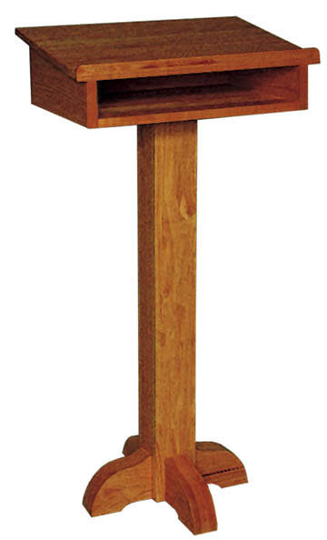 "Pedestal Speakers Stand Oak Top-15"" X 22"" Ht-42"""