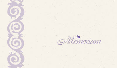 In Memoriam Cards [Pack of 25]