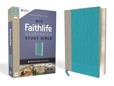 NIV, Faithlife Illustrated Study Bible, Imitation Leather, Gray/Blue, Indexed
