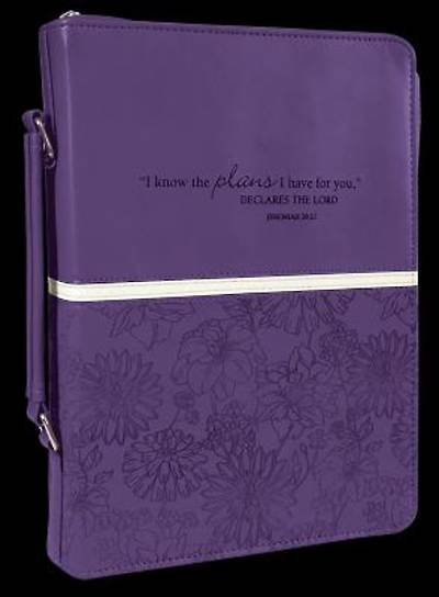 PURPLE LUXLEATHER LARGE BIBLE COVER