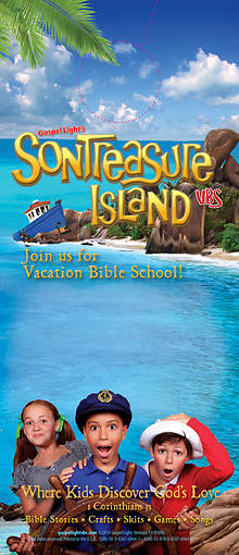 Gospel Light VBS 2014 SonTreasure Island Doorknob Hangers 48pk