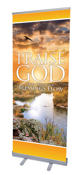 Picture of Blessings Flow RollUp Banner with Stand