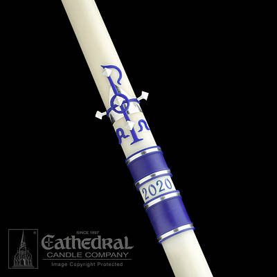"""Picture of Cathedral Messiah Paschal Candle 2-1/16"""" x 42"""""""