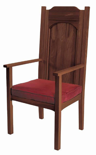 Picture of Abbey Collection Celebrant Chair - Walnut Stain