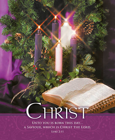 Picture of Christ Bible and Wreath Advent Legal Size Bulletin