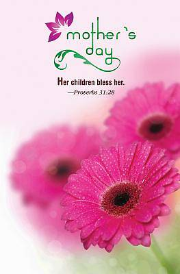Gerber Daisies Mothers Day Bulletin (Pkg of 50)