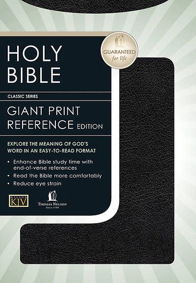 King James Version Giant Print Personal Size Bible Bonded Leather Black