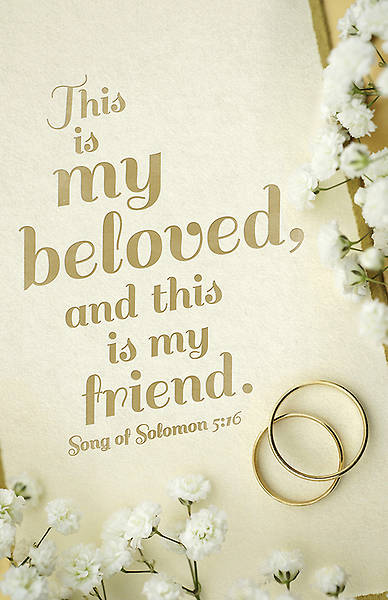 Wedding Bulletin - My Beloved - Song of Solomon 5:16 KJV - Reg (Pkg 100)