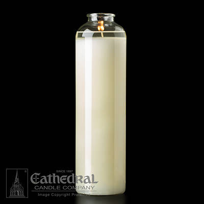 Picture of Cathedral Domus Christi 51% Beeswax 14-Day Glass Sanctuary Light