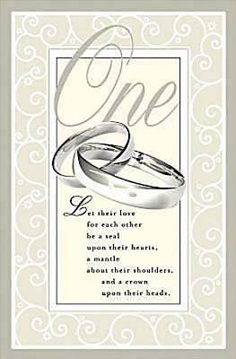 One Wedding Bulletin, Regular (Pkg of 50)