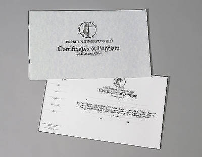 The United Methodist Church Certificates of Baptism for Youth and Adults (Pad of 26)