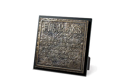 His Plans for You Statement Plaque