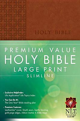 New Living Translation Premium Value Large Print Slimline Bible