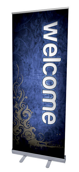 Picture of Adornment Welcome RollUp Banner with Stand