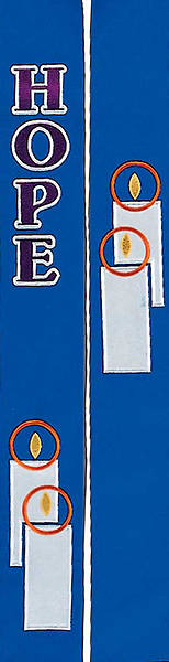 """Picture of Celebration 4500 Series Blue Stole - 100"""""""