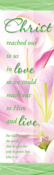 Christ/John 3:16 (Stargazer Lily) Easter Bookmark (Package of 25)