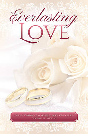 Everlasting Love Wedding Bulletin Reg (Pkg of 100)