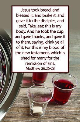 Picture of Jesus Took Bulletin (Pkg 100) Communion