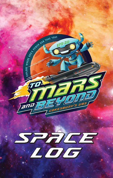 Vacation Bible School (VBS) 2019 To Mars and Beyond Space Log Activity Fun Book (Pkg of 24)