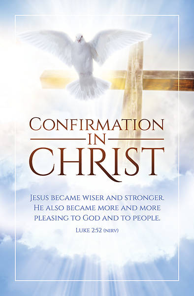Confirmation In Christ Confirmation Bulletin Pkg of 100