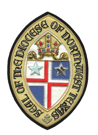 Hand Embroidered Diocesan Seal - Diocese of Northwest Texas