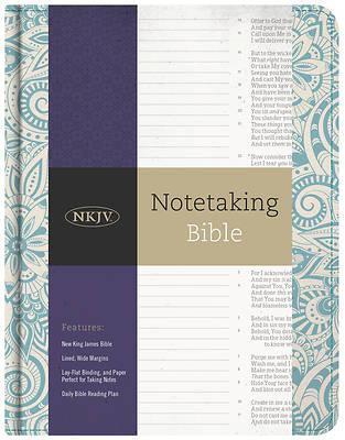 Picture of NKJV Notetaking Bible, Blue Floral