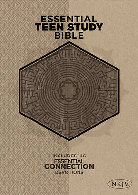 Picture of The NKJV Essential Teen Study Bible, Gray Cork Leathertouch