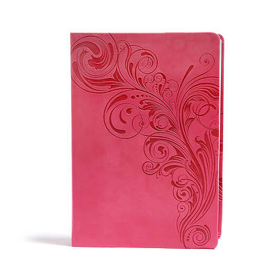 Picture of CSB Super Giant Print Reference Bible, Pink Leathertouch, Indexed