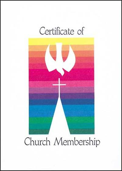 Contemporary Full-Color Church Membership Folded Certificate (package of 12)