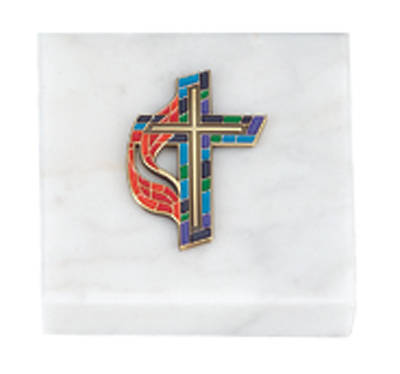 United Methodist Stained Glass Paperweight