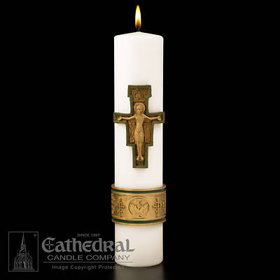 Cross of St. Francis Christ Candle