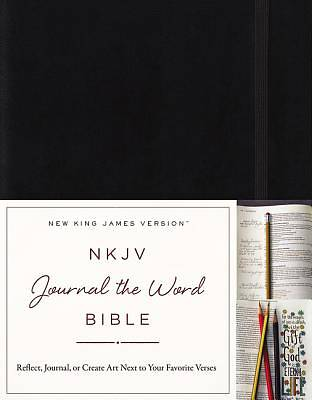 NKJV, Journal the Word Bible, Hardcover, Red Letter Edition