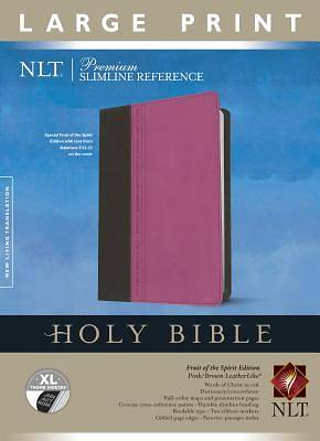Premium Slimline Reference Bible-NLT-Large Print Fruit of the Spirit