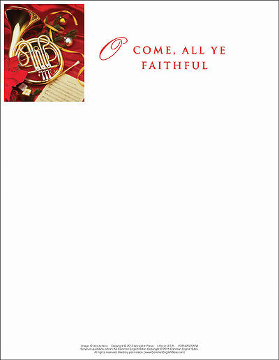 O Come/Christmas Music Letterhead 2013 (Pkg of 50)