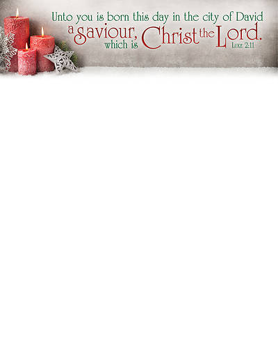 A Saviour, Christ the Lord Christmas Letterhead