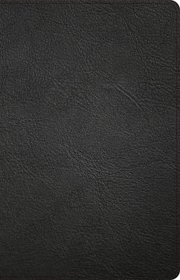Picture of CSB Thinline Bible, Black Genuine Leather, Indexed