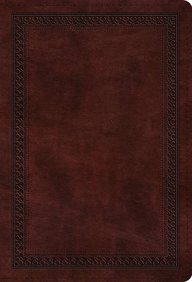 ESV Value Compact Bible (Trutone, Mahogany, Border Design)