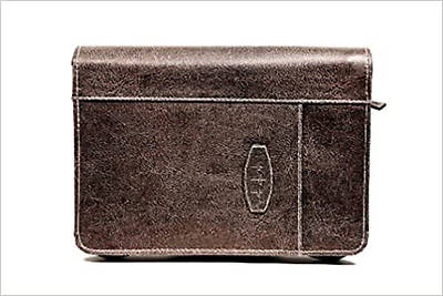Picture of Bible Cover Leather-Look Dark Earth Extra Large
